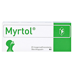 MYRTOL magensaftresistente Weichkapseln 20 Stück N1 - Vorderseite
