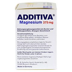 ADDITIVA Magnesium 375 mg Granulat Orange 20 St�ck - Rechte Seite