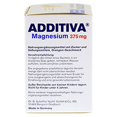 ADDITIVA Magnesium 375 mg Granulat Orange 20 Stück - Rechte Seite