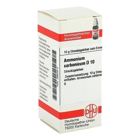 AMMONIUM CARBONICUM D 10 Globuli 10 Gramm N1