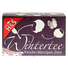 H&S Wintertee Kirsche-Marzipan-Zimt Filterbeutel 20 Stück - Vorderseite
