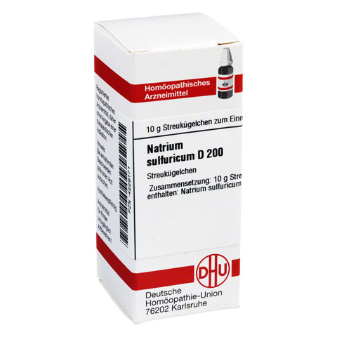 NATRIUM SULFURICUM D 200 Globuli 10 Gramm N1