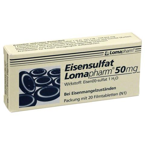 Eisensulfat Lomapharm 50mg 20 Stück N1
