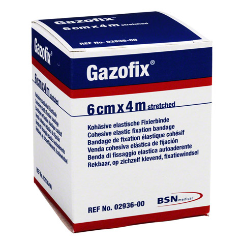 GAZOFIX Fixierbinde 6 cmx4 m hautf. 1 Stück