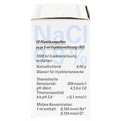 ISOTONE NaCl Lösung 0.9% BC Plast.Amp.Inj.-Lsg. 10x5 Milliliter N2 - Rechte Seite