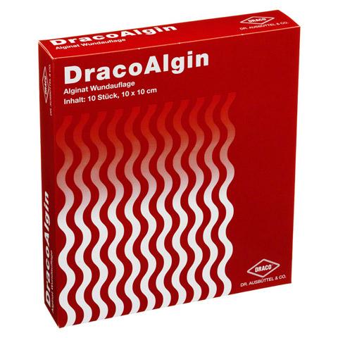 DRACOALGIN 10x10 cm Alginat Wundauflage 10 Stück