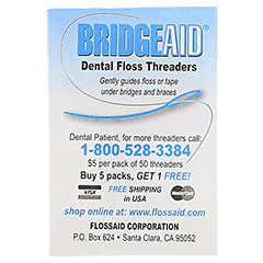 BRIDGE Aid Zahnseideneinf�dler 10 St�ck