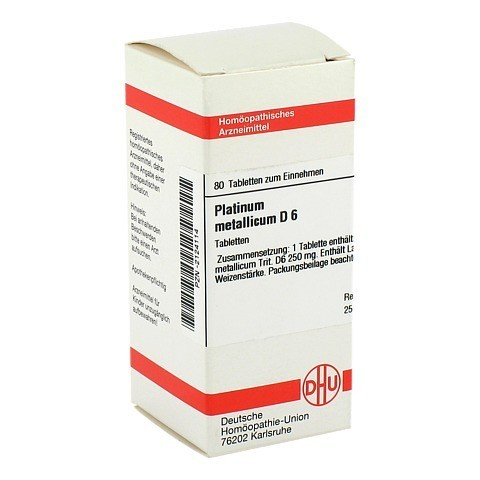 PLATINUM METALLICUM D 6 Tabletten 80 St�ck N1