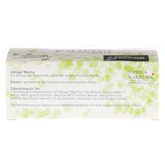 SIDROGA organic Matcha Tee Sticks 12 Stück - Unterseite