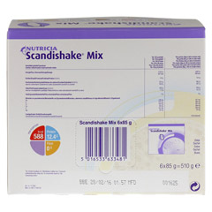 SCANDI Shake Mix Vanille Pulver 6x85 Gramm - R�ckseite