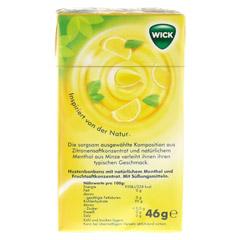 WICK Zitrone & natürliches Menthol Bonb.o.Zucker 46 Gramm - Rückseite