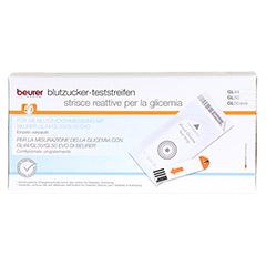 BEURER GL44/GL50 Blutzucker-Teststreifen Folie 50 Stück - Vorderseite