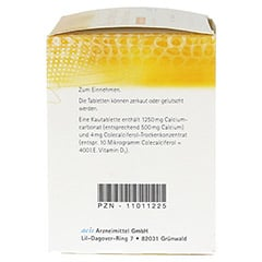 CALCIUM VITAMIN D3 acis 500 mg/400 I.E. Kautabl. 120 St�ck N3 - Rechte Seite