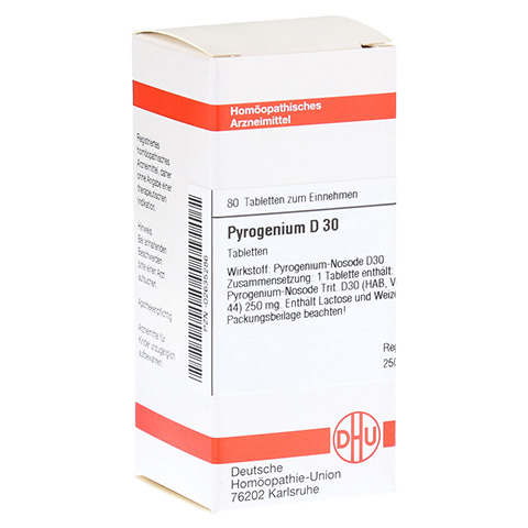 PYROGENIUM D 30 Tabletten 80 Stück