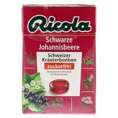 RICOLA o.Z. Box Schwarze Johannisbeere Bonbons 50 Gramm - Vorderseite