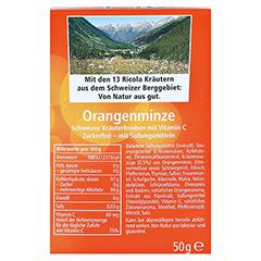 RICOLA o.Z. Box Orangenminze Bonbons 50 Gramm - R�ckseite