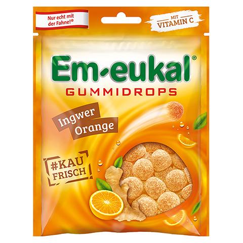 EM EUKAL Gummidrops Ingwer-Orange zuckerhaltig 90 Gramm