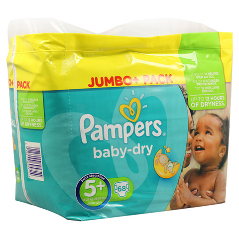 PAMPERS Baby Dry Gr.5+ junior plus 13-25kg Jumbo 68 St�ck