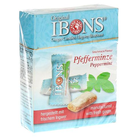 IBONS Pfefferminze Ingwerkaubonbons Orig.Schachtel 60 Gramm