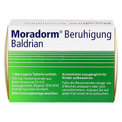 Moradorm Beruhigung Baldrian 100 St�ck - R�ckseite
