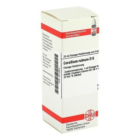 CORALLIUM RUBRUM D 6 Dilution 20 Milliliter N1