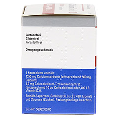 Calcium-Sandoz D Osteo 500mg/400I.E. 20 Stück N1 - Rechte Seite