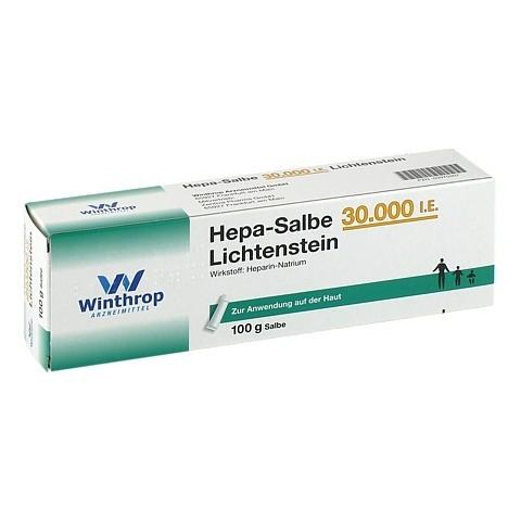 Hepa-Salbe 30000I.E. Lichtenstein 100 Gramm N2