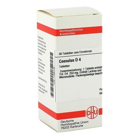 COCCULUS D 4 Tabletten 80 Stück N1
