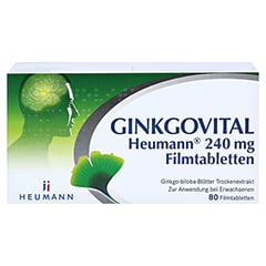 GINKGOVITAL Heumann 240mg 80 Stück N2 - Vorderseite