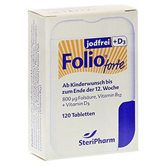 FOLIO forte jodfrei+D3 Filmtabletten 120 Stück