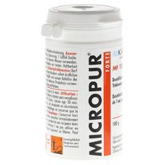 MICROPUR forte MF 10000P Pulver 100 Gramm - Rückseite