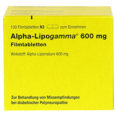 Alpha-Lipogamma 600mg 100 St�ck N3 - Vorderseite
