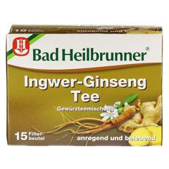 BAD HEILBRUNNER Tee Ingwer Ginseng Filterbeutel 15 Stück - Vorderseite