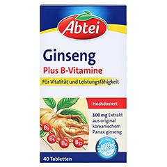 ABTEI Ginseng (Plus B-Vitamine) 40 Stück - Vorderseite