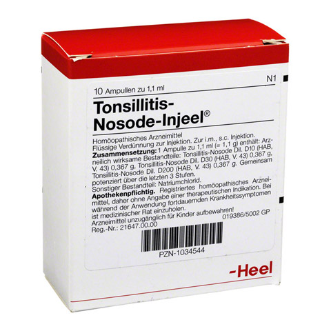 TONSILLITIS Nosode Injeel Ampullen 10 Stück N1