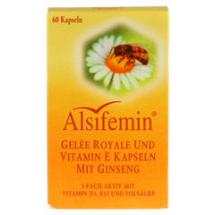 ALSIFEMIN Gelee Royal+Vit.E m.Ginseng Kapseln 60 St�ck - Vorderseite