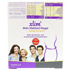 XLIM Aktiv Mahlzeit Riegel Vanille 12x75 Gramm - Vorderseite