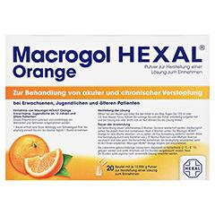 MACROGOL HEXAL Orange Plv.z.Her.e.Lsg.z.Einn.Btl. 20 Stück - Vorderseite