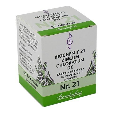 BIOCHEMIE 21 Zincum chloratum D 6 Tabletten 80 Stück N1