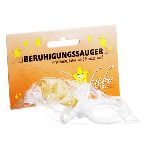 BERUHIGUNGSSAUGER Kirschf.Lat.ab 6 M.weiß 1 Stück