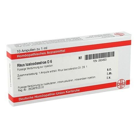 RHUS TOXICODENDRON D 6 Ampullen 10x1 Milliliter N1