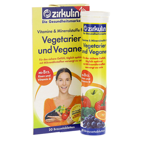 ZIRKULIN Vitamine u.Mineralst.f.Vegetarier+Veganer 20 Stück