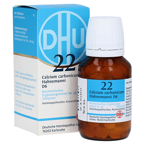 BIOCHEMIE DHU 22 Calcium carbonicum D 6 Tabletten 200 St�ck N2