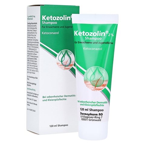 KETOZOLIN 2% Shampoo 120 Milliliter N1