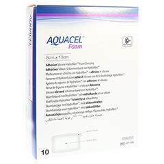 AQUACEL Foam adhäsiv 8x13 cm Verband 10 Stück