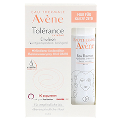 AVENE Tolerance Extreme Emulsion+Th. Spray 50ml Gratis 1 Packung - Vorderseite