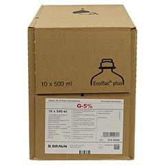GLUCOSE 5% B.Braun Ecoflac Plus 10x500 Milliliter N2 - Vorderseite