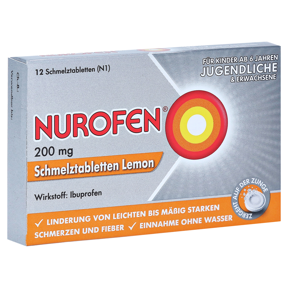 nurofen 200mg lemon 12 st ck n1 online bestellen medpex. Black Bedroom Furniture Sets. Home Design Ideas