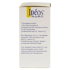 IDEOS 500 mg/400 I.E. Kautabletten 90 St�ck - Linke Seite