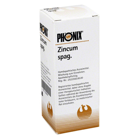 PH�NIX ZINCUM spag. Tropfen 50 Milliliter N1